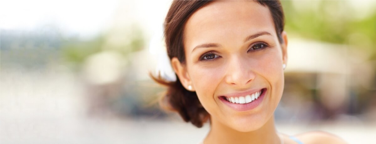 Woman with great teeth whitening treatment
