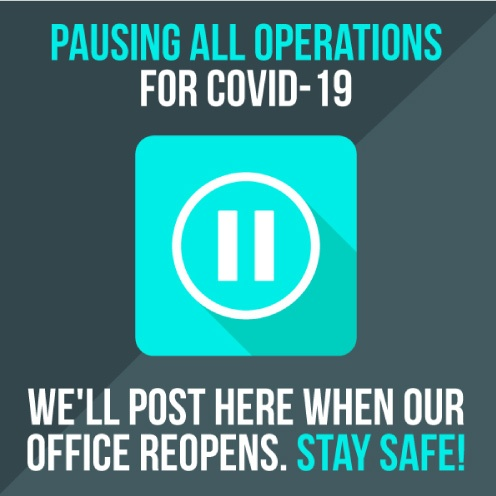 graphic stating operations are paused due to COVID-19